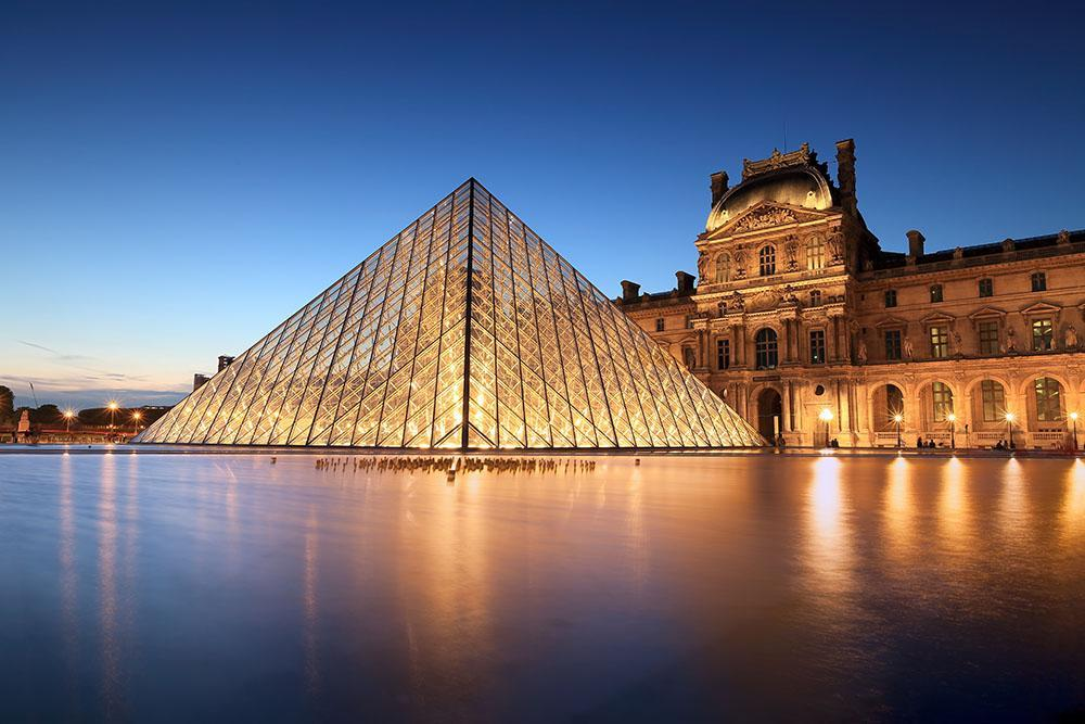 night_scene_of_the_Louvre_Museum_Wall_Mural_Wallpaper_a